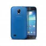 Photo réelle de Coque Ultra Fine 0.3mm Frost Samsung Galaxy S4 mini Bleue