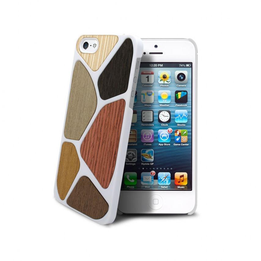 Visuel supplémentaire de Coque Bagheera Patchwork Blanche pour iPhone 5