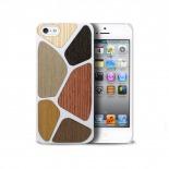 Vue complémentaire de Coque Bagheera Patchwork Blanche pour iPhone 5