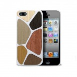 Photo réelle de Coque Bagheera Patchwork Blanche pour iPhone 5