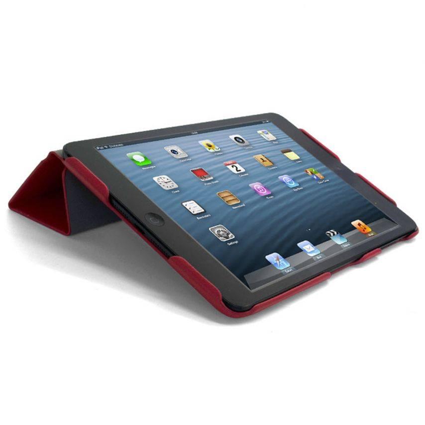 Photo réelle de Coque Ultra légère Smart Cover Stand iPad Mini Rouge