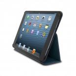 Vue complémentaire de Coque Club Tissu Bleue iPad Mini