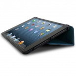 Photo réelle de Coque Club Tissu Bleue iPad Mini
