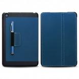 Vue portée de Coque Club Tissu Bleue iPad Mini