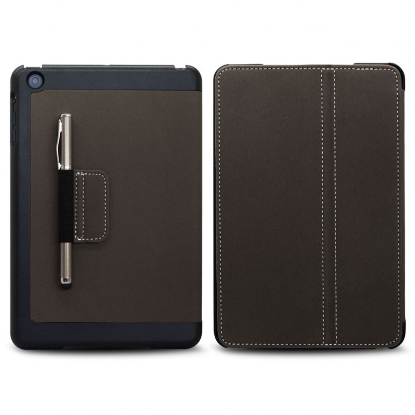 Vue portée de Coque Club Tissu Noire iPad Mini