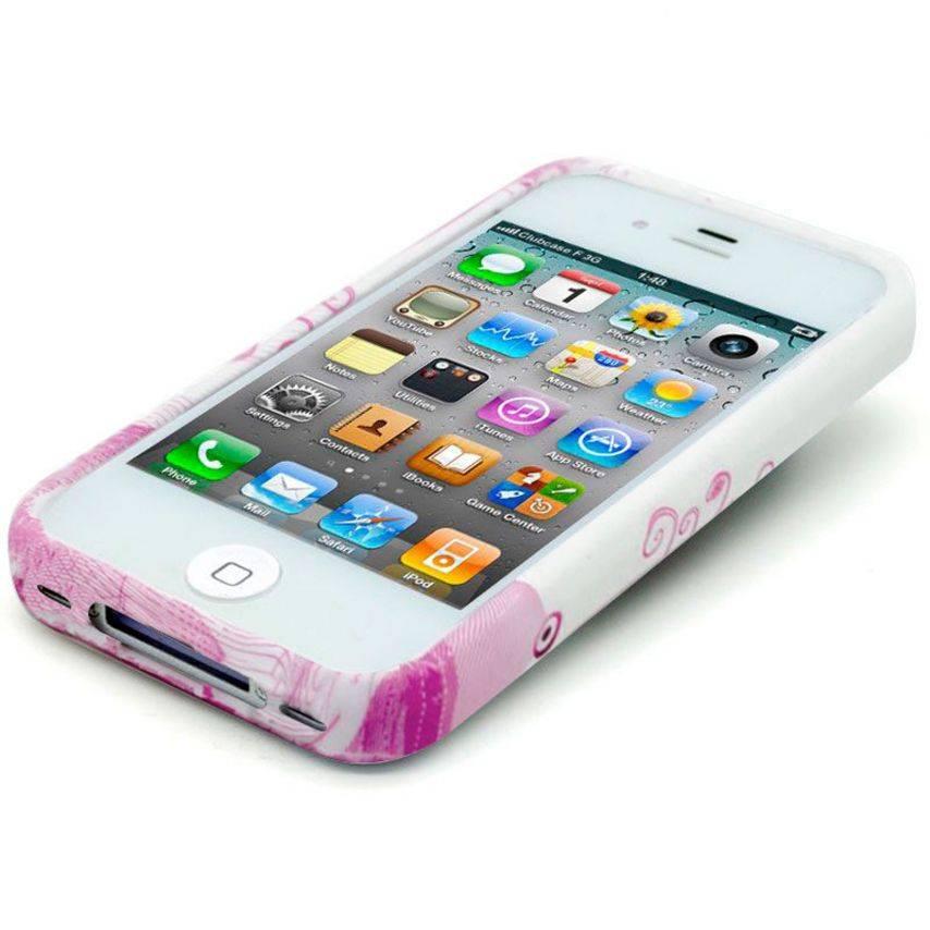 Visuel supplémentaire de Coque iPhone 4S/4 Hearts ABSTRACTION Rose