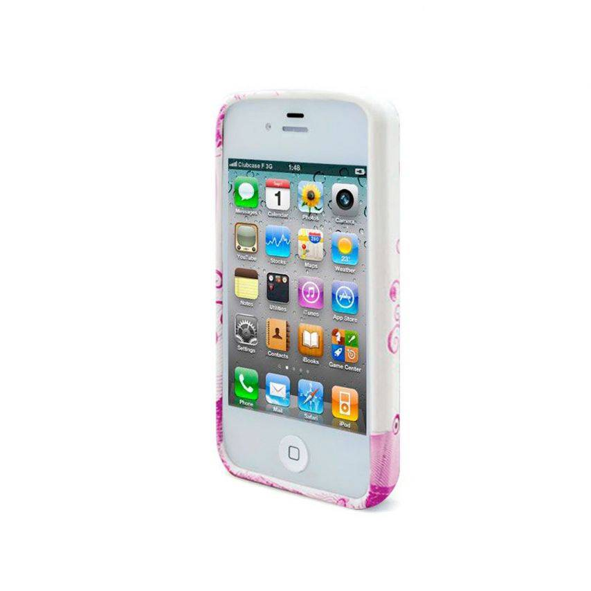 Vue complémentaire de Coque iPhone 4S/4 Hearts ABSTRACTION Rose
