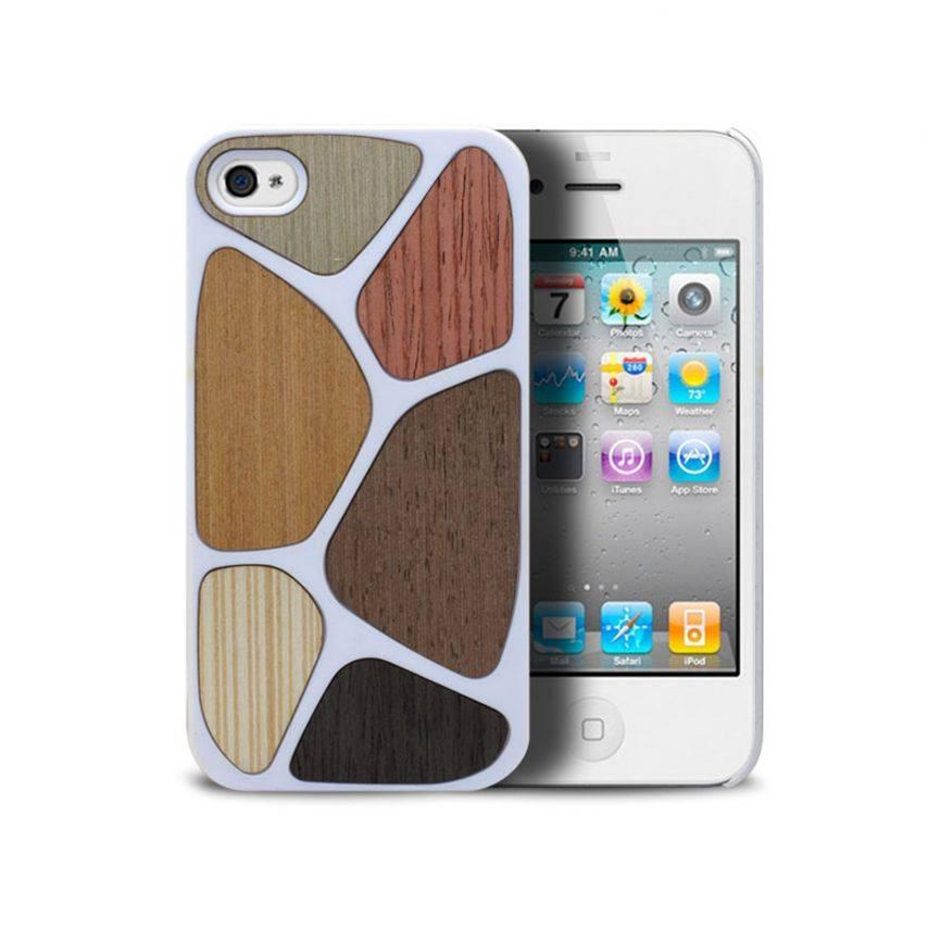 Visuel supplémentaire de Coque Bagheera Patchwork Blanche pour iPhone 4/4s