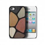 Vue complémentaire de Coque Bagheera Patchwork pour iPhone 4/4s