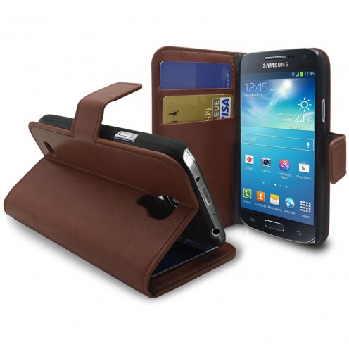 Smart Cover Samsung Galaxy S4 mini Cuirette Marbrée Havanne