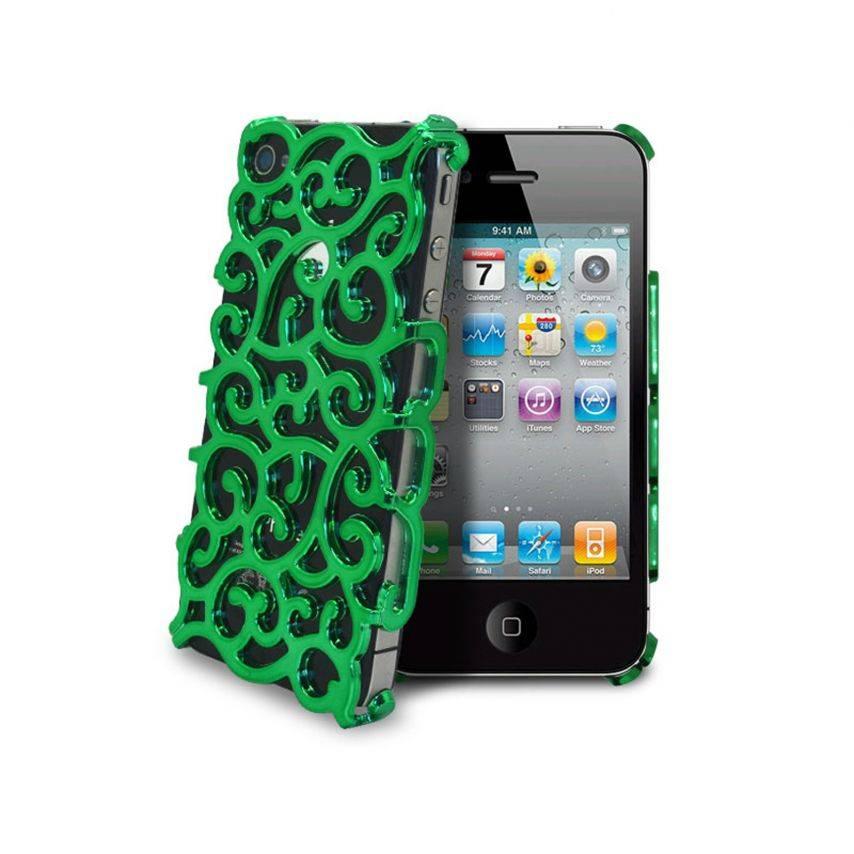 Visuel supplémentaire de Coque iPhone 4 & 4S Rococo Design Verte