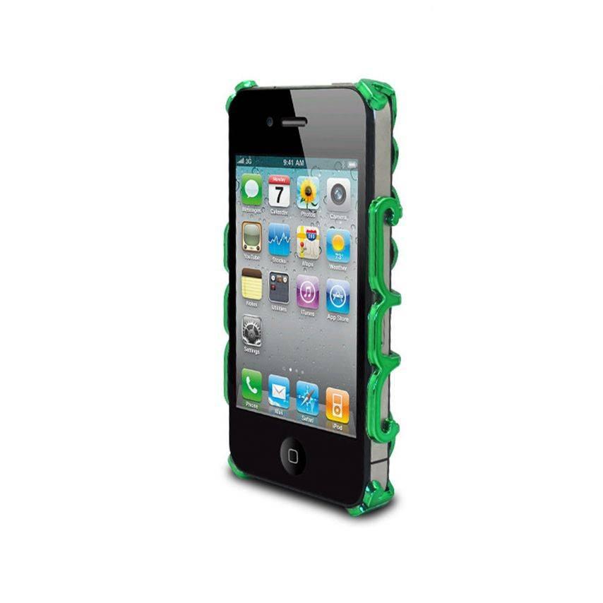 Photo réelle de Coque iPhone 4 & 4S Rococo Design Verte