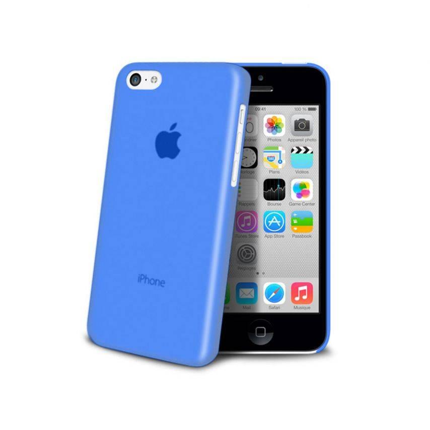 Zoom sur Coque Ultra Fine 0.3mm Frost iPhone 5C Bleue