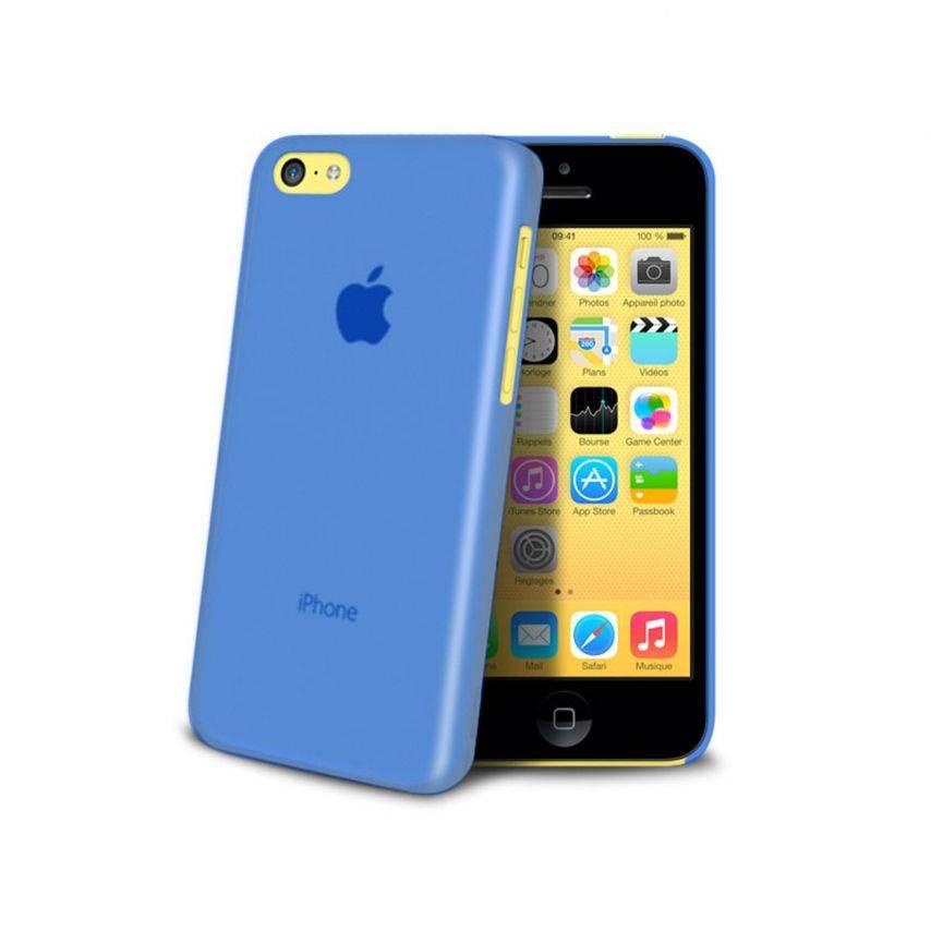 Vue complémentaire de Coque Ultra Fine 0.3mm Frost iPhone 5C Bleue