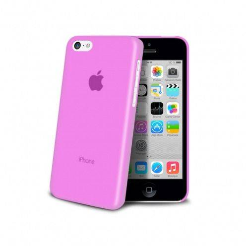 Photo réelle de Coque Ultra Fine 0.3mm Frost iPhone 5C Rose