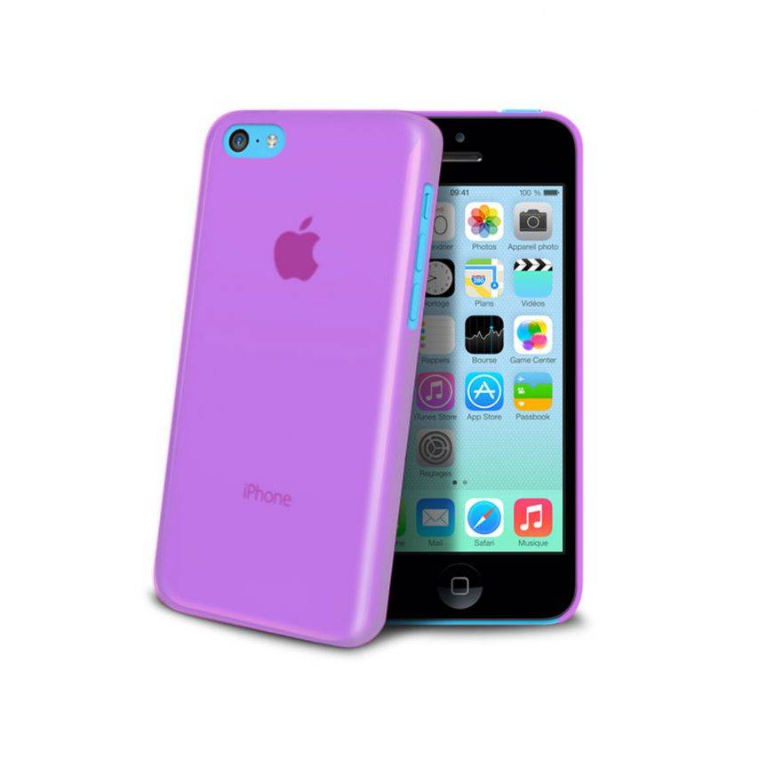 Visuel unique de Coque Ultra Fine 0.3mm Frost iPhone 5C Rose