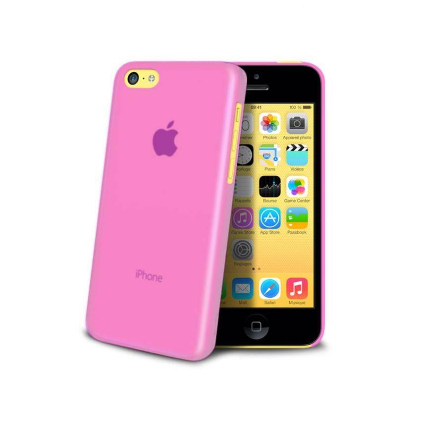 Vue complémentaire de Coque Ultra Fine 0.3mm Frost iPhone 5C Rose
