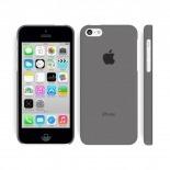 Vue portée de Coque Ultra Fine 0.3mm Frost iPhone 5C Noire