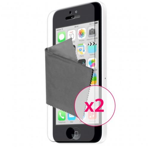 Zoom sur Films de protection anti traces de doigts iPhone 5C Clubcase ® Lot de 2