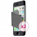 Zoom sur Films de protection anti traces de doigts iPhone 5C Clubcase ® Lot de 2