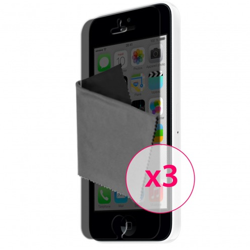 Films de protection Privacy Anti-Reflet iPhone 5C Clubcase ® Lot de 3