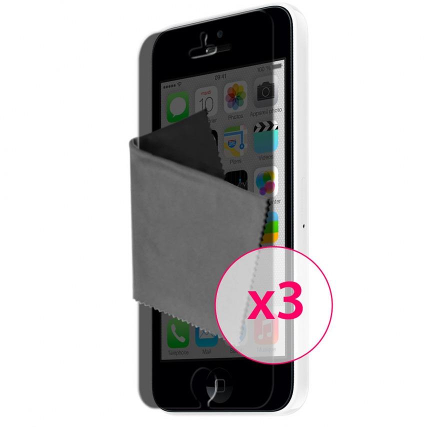 Zoom sur Films de protection Privacy Anti-Reflet iPhone 5C Clubcase ® Lot de 3