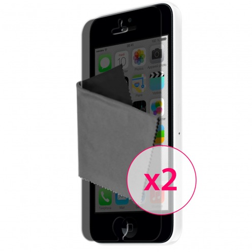 Films de protection Privacy Anti-Reflet iPhone 5C Clubcase ® Lot de 2