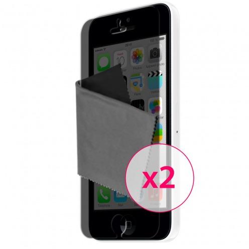 Zoom sur Films de protection Privacy Anti-Reflet iPhone 5C Clubcase ® Lot de 2