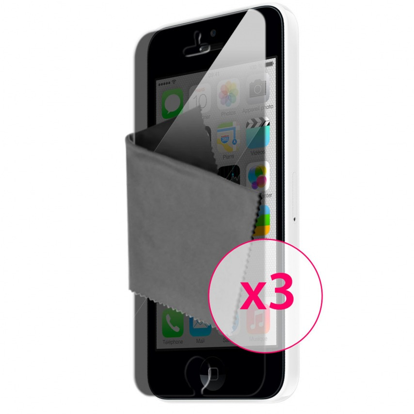 Zoom sur Films de protection Privacy iPhone 5C Clubcase ® Lot de 3