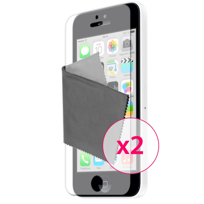 Zoom sur Films de protection Anti-Reflet iPhone 5C Clubcase ® Lot de 2