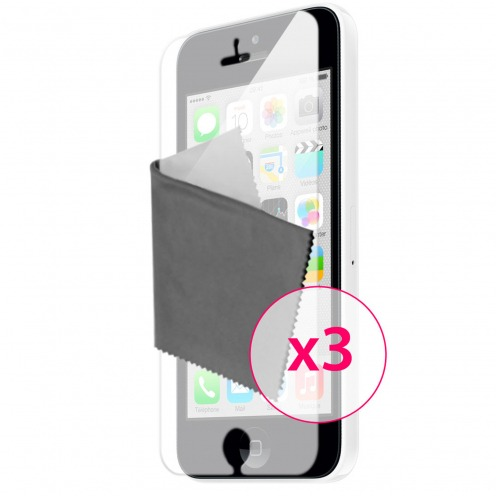 Films de protection iPhone 5C Miroir Clubcase ® HQ Lot de 3