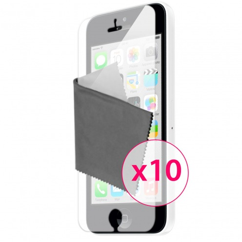 Films de protection iPhone 5C Miroir Clubcase ® HQ Lot de 10