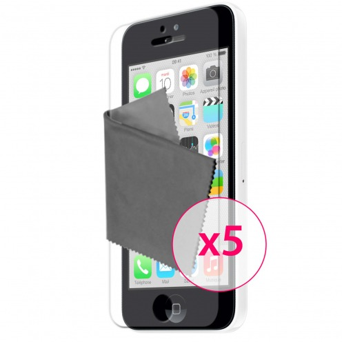 Films de protection iPhone 5C Clubcase ® HQ Lot de 5