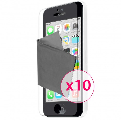 Films de protection iPhone 5C Clubcase ® HQ Lot de 10