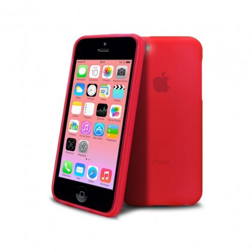 Vue portée de Coque IPhone 5C® Frozen Ice Extra Fine Rouge