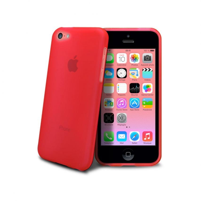 Vue détaillée de Coque IPhone 5C® Frozen Ice Extra Fine Rouge