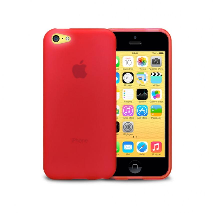 Zoom sur Coque IPhone 5C® Frozen Ice Extra Fine Rouge