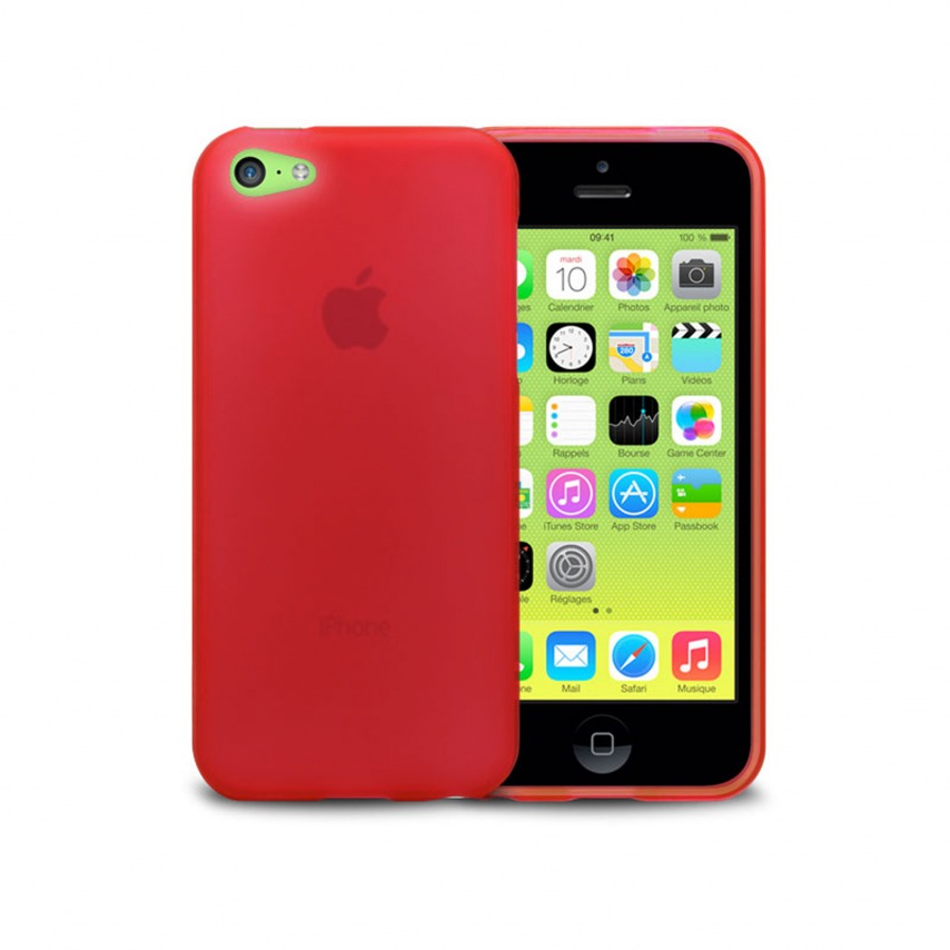 Visuel unique de Coque IPhone 5C® Frozen Ice Extra Fine Rouge