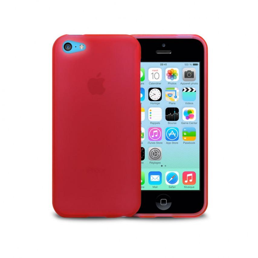 Visuel supplémentaire de Coque IPhone 5C® Frozen Ice Extra Fine Rouge