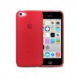 Photo réelle de Coque IPhone 5C® Frozen Ice Extra Fine Rouge