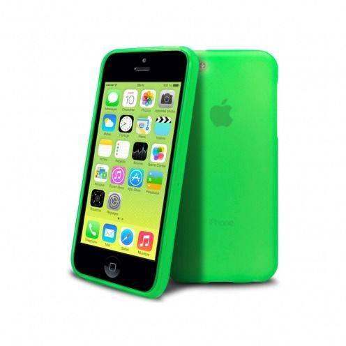 Vue portée de Coque IPhone 5C® Frozen Ice Extra Fine Verte