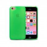 Vue complémentaire de Coque IPhone 5C® Frozen Ice Extra Fine Verte