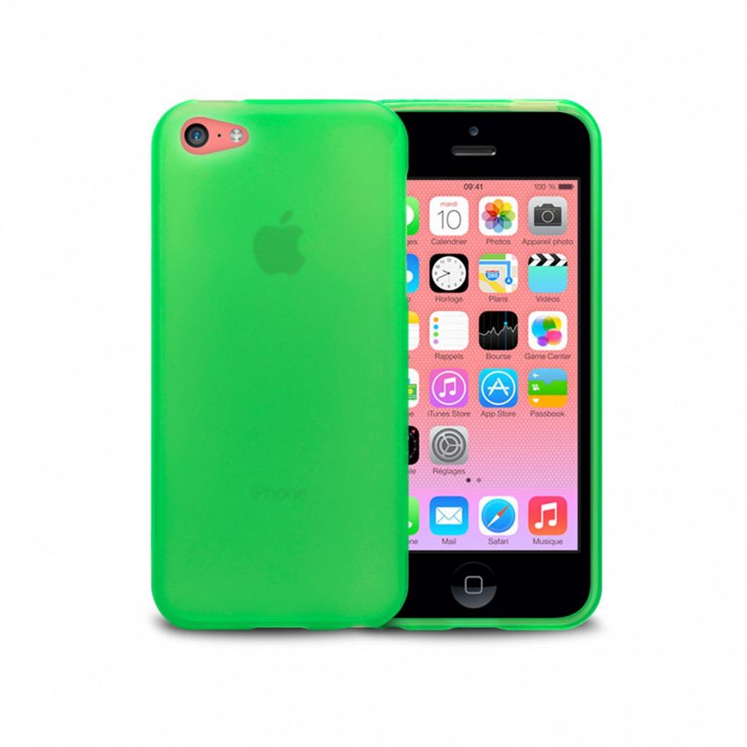 Coque IPhone 5C Frozen Ice Extra Fine Verte | Clubcase.fr