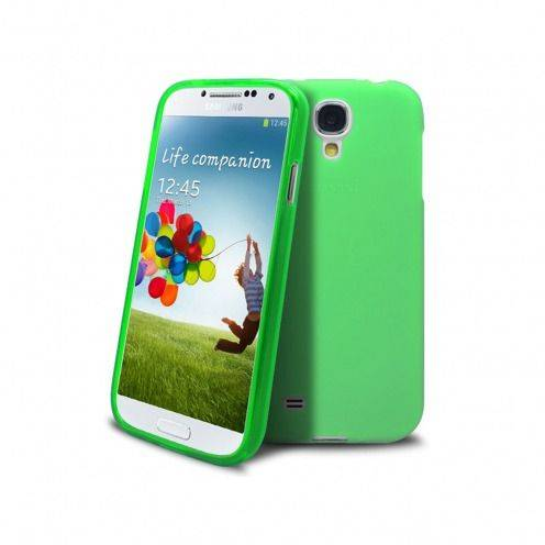 Photo réelle de Coque Samsung Galaxy S4 Frozen Ice Extra Fine Verte