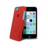 """Vue complémentaire de Coque """"Crystal"""" pour iPhone 5C Rouge"""