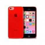 """Vue portée de Coque """"Crystal"""" pour iPhone 5C Rouge"""