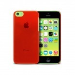 """Visuel unique de Coque """"Crystal"""" pour iPhone 5C Rouge"""