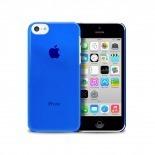 """Vue portée de Coque """"Crystal"""" pour iPhone 5C Bleue"""