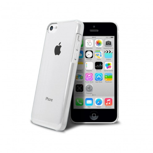 "Coque ""Crystal"" pour iPhone 5C Blanche"