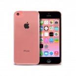 """Vue portée de Coque """"Crystal"""" pour iPhone 5C Blanche"""